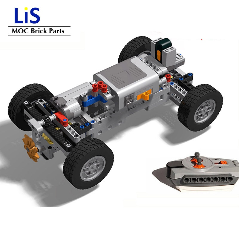NEW High-tech 4WD Off-road Front Suspension System MOC Building Blocks Bricks Parts Kits RC Model Cars for kids Boys DIY Toys