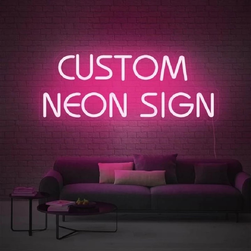 Custom Neon Sign Logo Led Light Party Flex Transparent Acrylic Neon Light Sign Wedding Party Decor Letter Led For Room Indoor