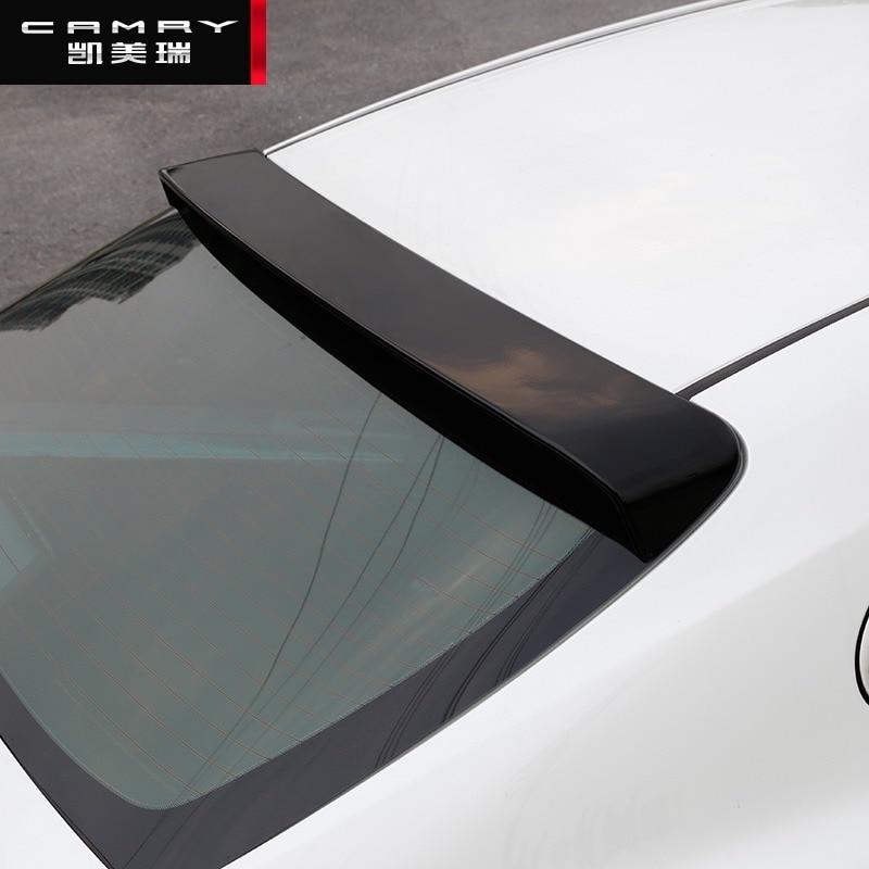 CEYUSOT-جناح سقف السيارة ، شفة خلفية سوداء ، ملحقات زخرفية ، تويوتا كامري ، جديد ، 2018-2020