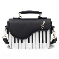 lovely piano pattern shoulder bag fashion pu leather casual ladies handbag crossbody messenger bag pouch totes womens flap