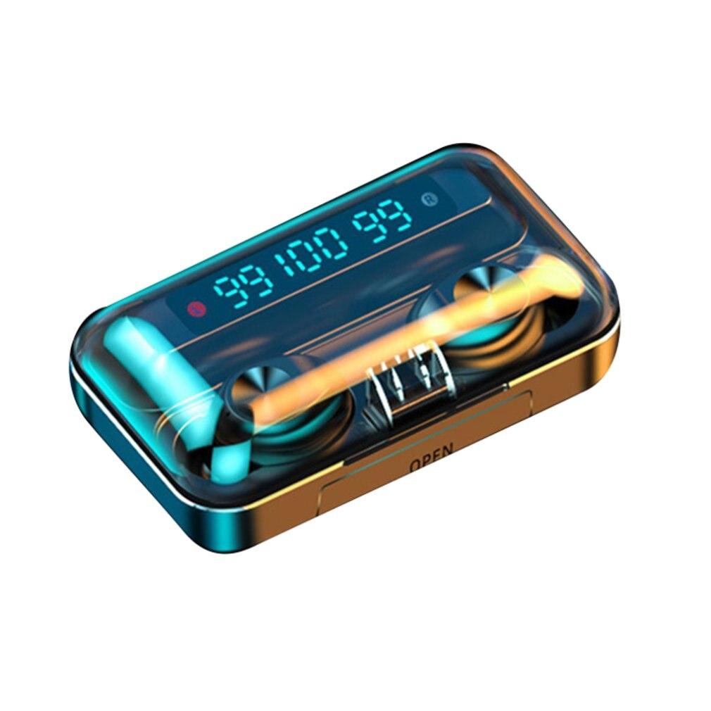 Fone de Ouvido sem Fio Bilateral para Iphone Bluetooth Fones Esporte Led Toque Chamada Samsung Elephone Smartphone f9 Tws 5.0