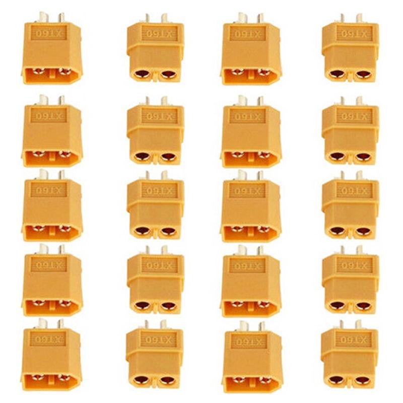 10/20PCS XT60 XT-60 XT 60 Plug Male Female Bullet Connectors Plugs For RC Lipo Battery Wholesale 5Pairs/10Pairs