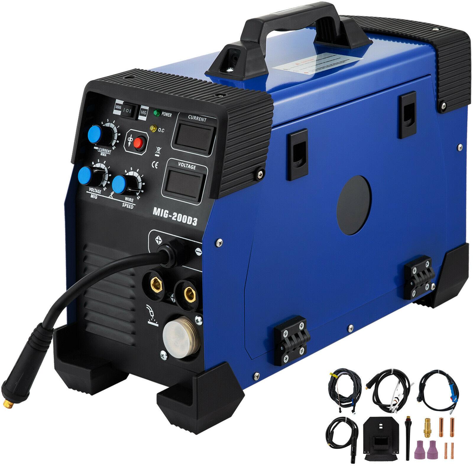 5 في 1 MIG / MAG/TIG/تدفق/MMA ماكينة لحام بالكهرباء IGBT 200Amp كومبو آلة لحام بقعة لحام 200A