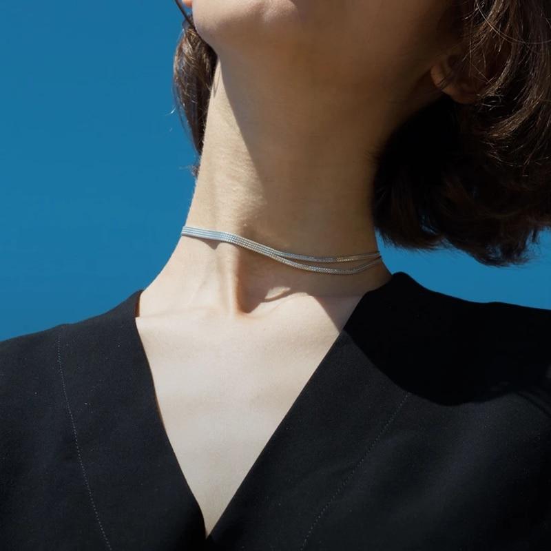 Intemporal maravilha latão geo wrap gargantilha colar jóias femininas punk gótico boho designer topo instrução ins rock hip hop fantasia 3372