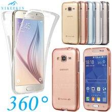 360 volle Körper Stoßfest Fall Für Samsung Galaxy J4 J6 A6 A8 Plus J3 J5 J7 2017 A7 A8 J8 2018 Transparent Silikon Soft Cover