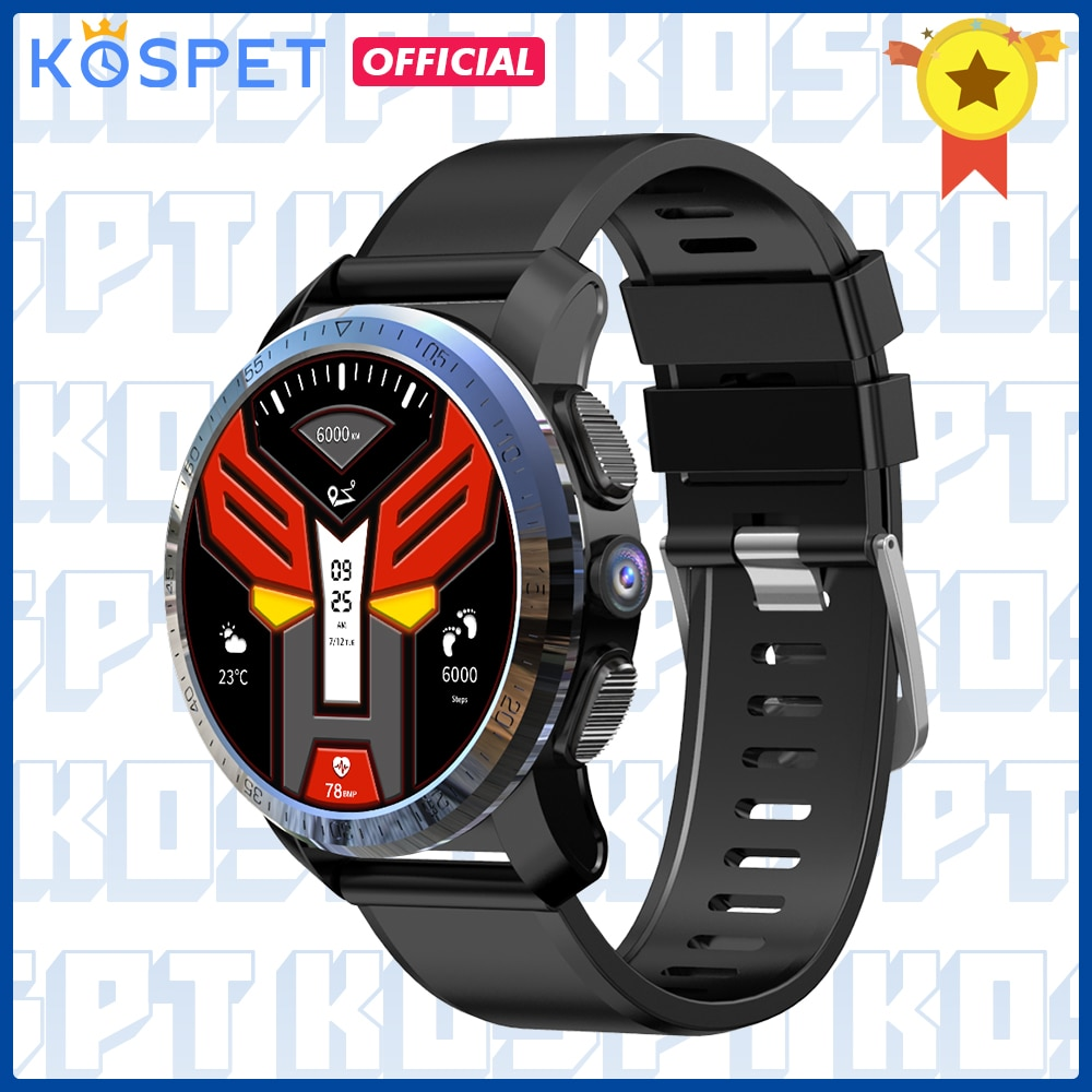 """KOSPET Optimus Pro 3GB 32GB reloj inteligente GPS para hombres supervisión de frecuencia cardiaca por WIFI 1,39 """"Cámara Dual sistema 4G Smartwatch teléfono Android"""