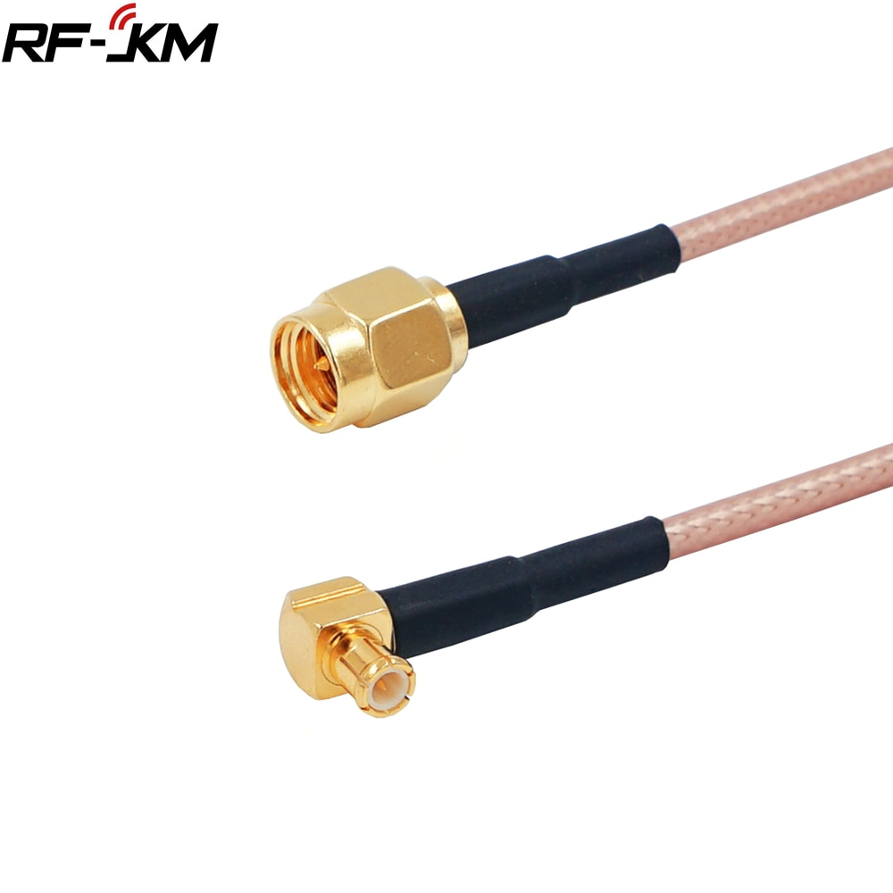 rg174 sma male plug to sma male plug rf jumper pigtail coax cable RF coaxial connector SMA Male Plug to MCX Male Right Angle RF Pigtail Cable RG316