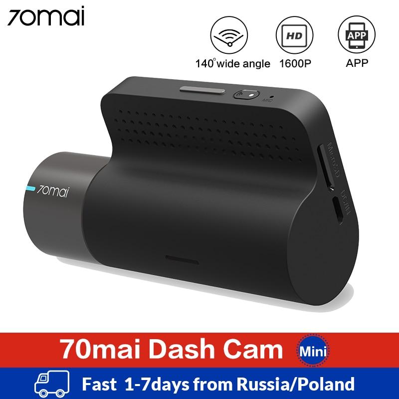 Xiaomi 70mai Mini Smart Dash Cam Wifi Автомобильный видеорегистратор Dash камера 1600P HD ночное видение g сенсор приложение 70 Mai Dashcam авто видео рекордер
