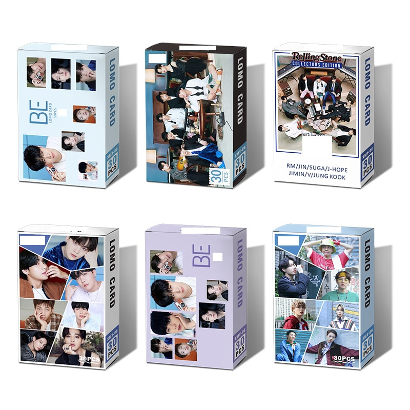 kpop lomo card bangtan boys album map of the soul persona member photocard set 30 cards 30pcs/Set Kpop Bangtan Boys New Album BE Lomo Box Small Card Set All Styles Collective Blessing Kpop Accessories Photocard