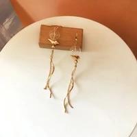 bilandi trendy jewelry metal chain dangle earrings golden plating hot selling ball drop earrings for girl fine accessories