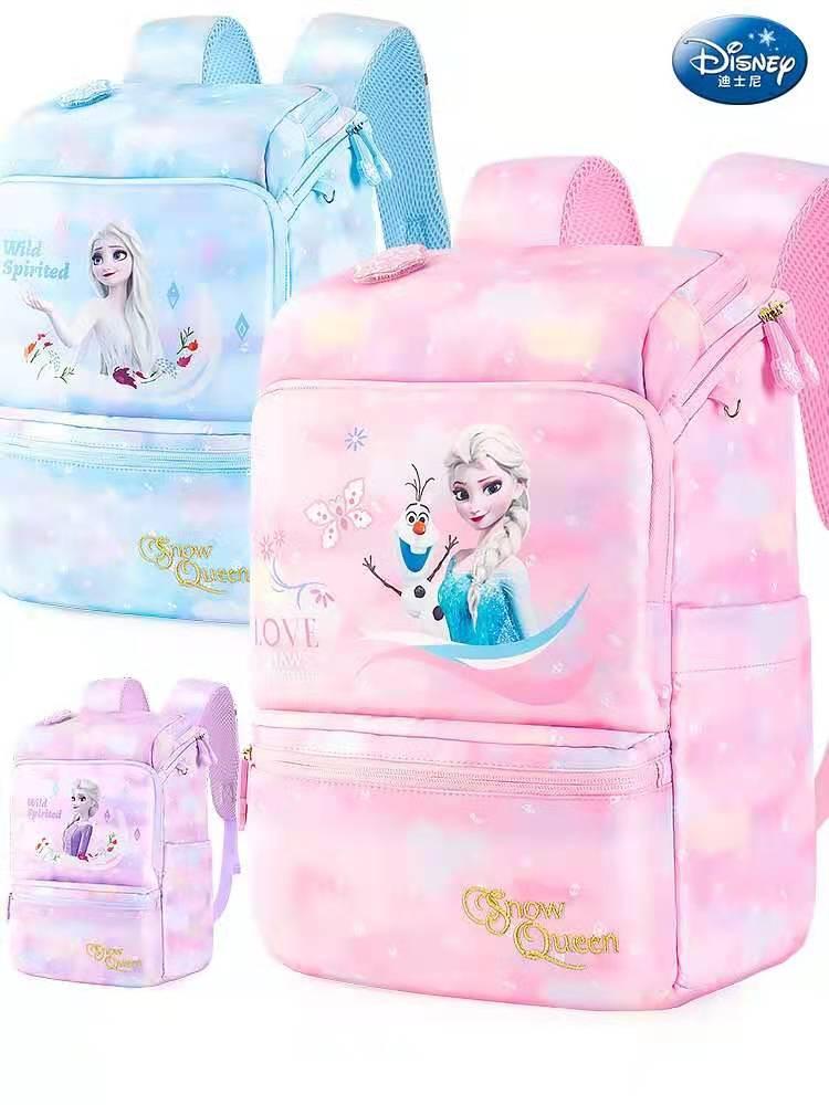 Disney Frozen School Bags For Girls Anna Elsa Olaf Backpack Primary Student Shoulder Orthopedic Bag Teenage Gifts Light Mochilar