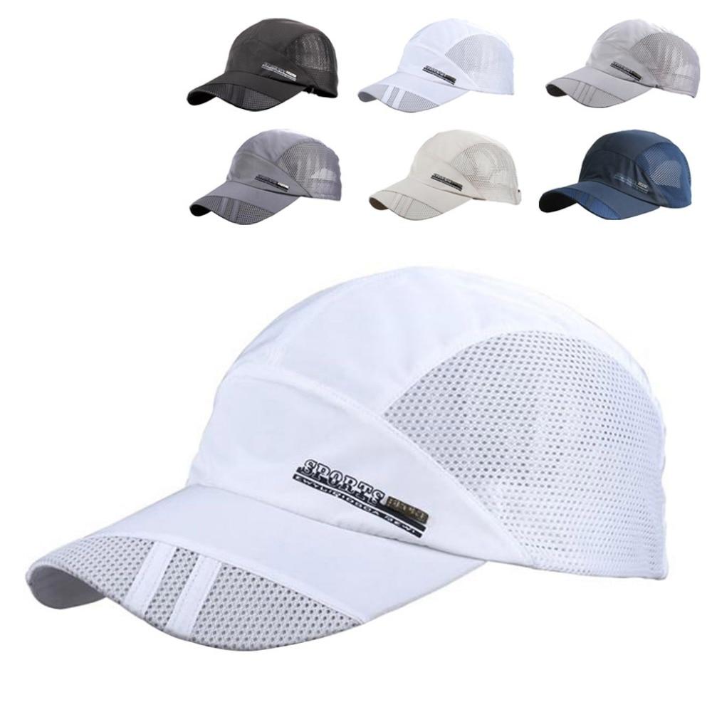 AliExpress - Fashion Mens Summer Outdoor Sport Baseball Hat Running Visor Cap Hot Popular New Cool Quick Dry Mesh Cap 6 Colors