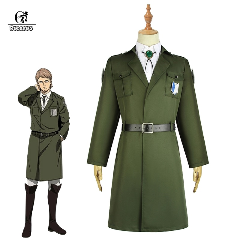 ROLECOS Levi Eren Cosplay Costume Scouting Legion Soldier Coat Cosplay Trench Jacket Men Uniform Halloween Carnival Clothing