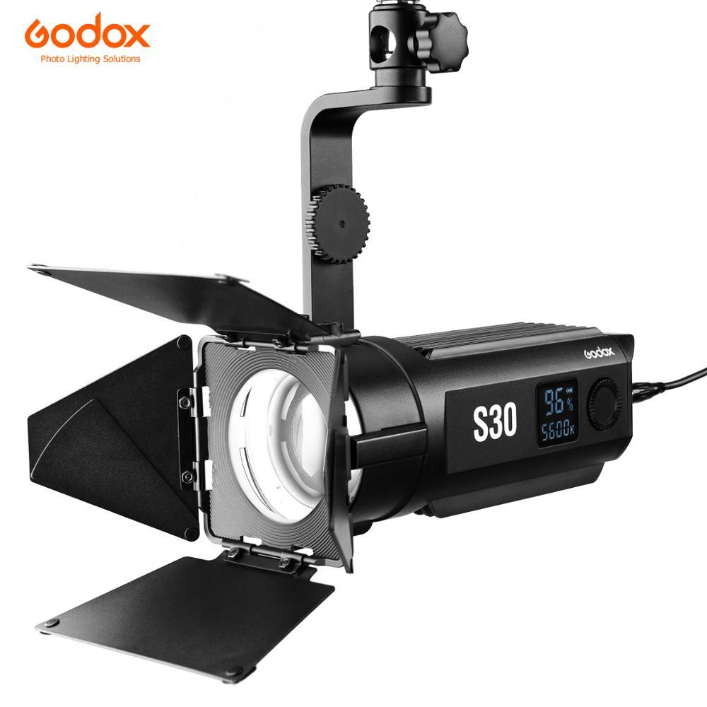 Godox S30 30W foco de enfoque LED brillo ajustable 5600K CRI 96 + para retrato de boda fotografía y vídeo iluminación