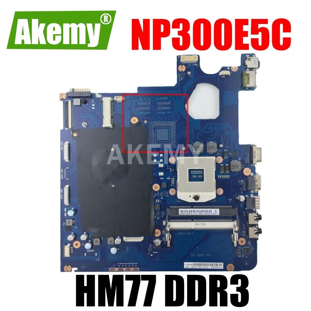 Akemy BA92-11488A BA92-11488B اللوحة الرئيسية ل سامسونج NP300E5C NP300E5X اللوحة المحمول PGA 989 DDR3 SLJ8F HM77