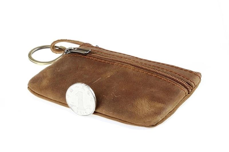 Monedero de cuero con cremallera pequeña cartera creativa coreana