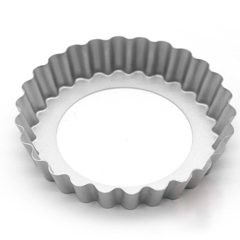 Bandeja para hornear pastel de lata de 4 bandeja para hornear torta acanalada molde Base suelta antiadherente creativo