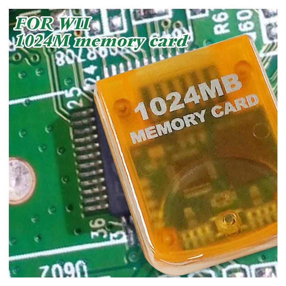 1024 mo carte mémoire pour Nintendo Wii jeu Cube couleur jaune en stock livraison rapide