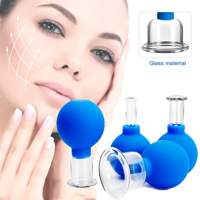 Rubber Vacuum Cupping Glasses  Anti Cellulite Suction Cup Lip Enhancer Face Skin Lifting  Massage Body Cups  Cupping Therapy Set electric breast massager chest enlarger enhancer vacuum meridian therapy body scraping cupping anti cellulite massage machine