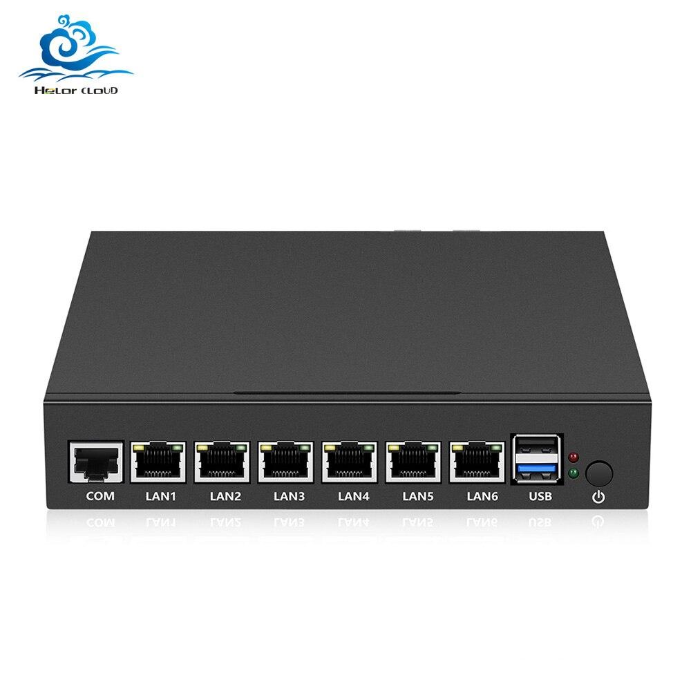 Mini PC 6 Ethernet LAN Router Firewall Intel Celeron N2830 Fanless pfSense Desktop Industrial PC VPN Windows 7*24 hours working