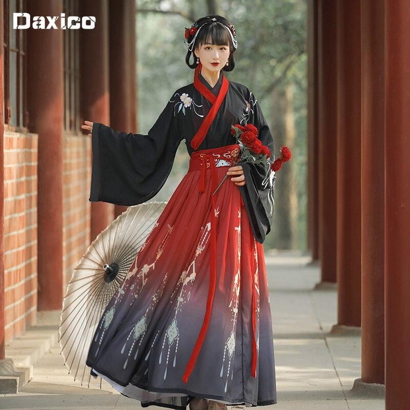 الصينية التقليدية Hanfu زي امرأة القديمة هان سلالة فستان الأميرة الشرقية فستان سيدة أناقة تانغ سلالة الرقص ارتداء