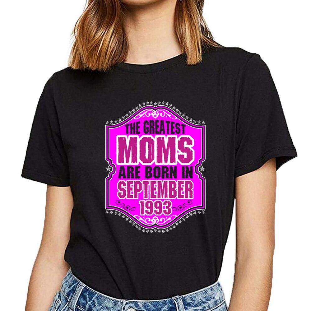 Camisa de t das mulheres as maiores mães nascem em setembro de 1993 vogue vintage impressão feminina tshirt
