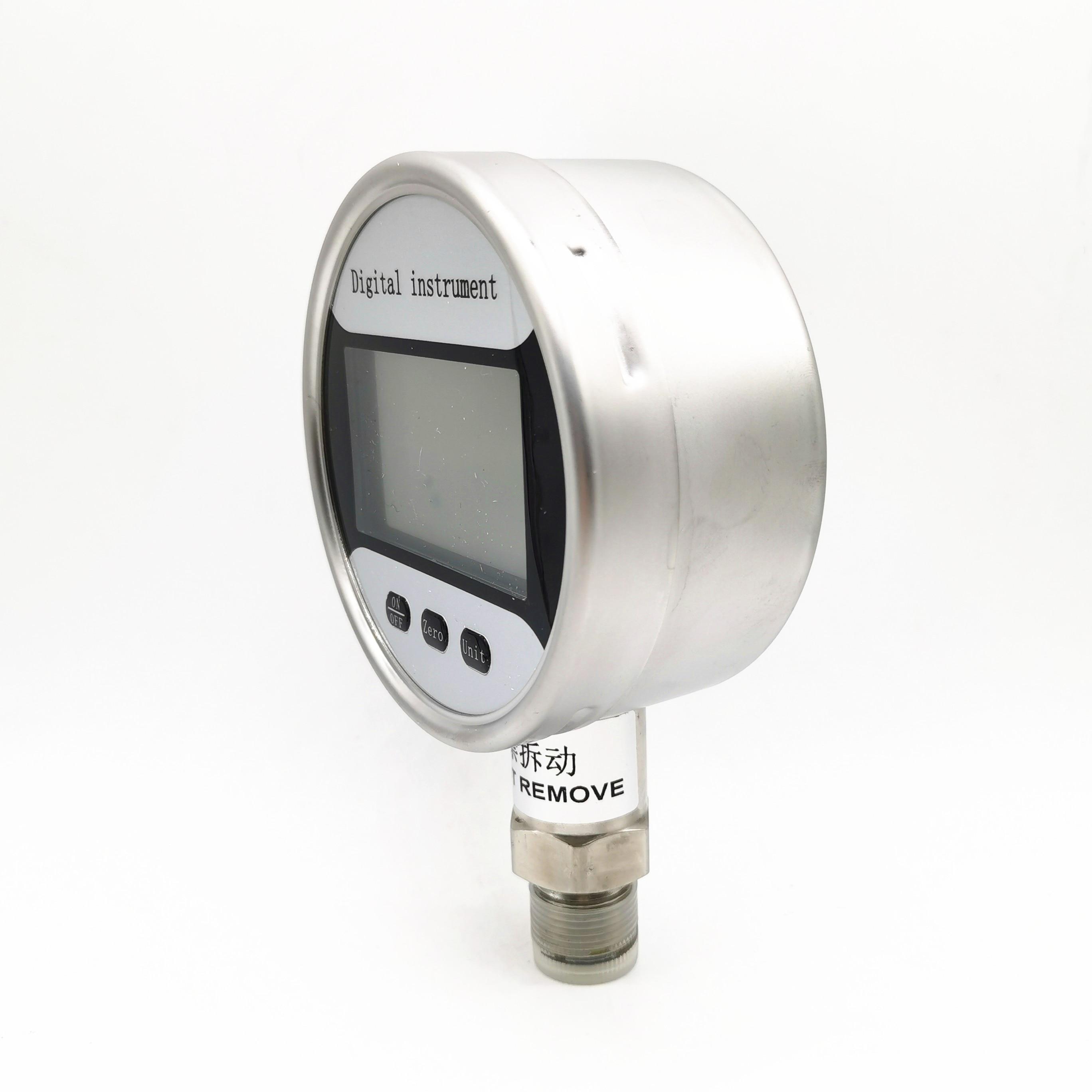 100 مللي متر 0.4 دقة الدقة الفولاذ المقاوم للصدأ ذكي شاشة ديجيتال قياس الضغط الزلزالي الدقة ضغط المياه