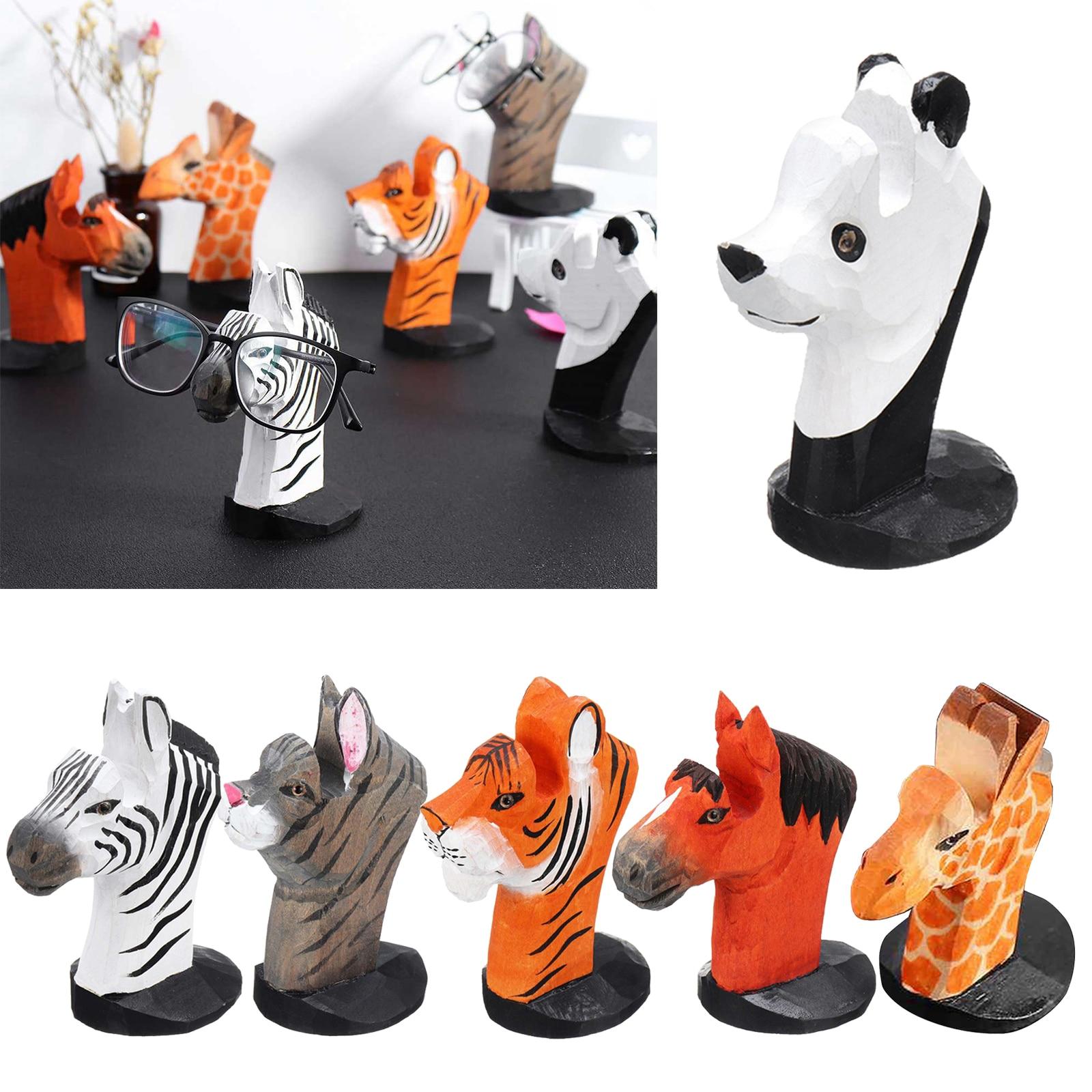 Cute 3D Animal Wood Carvings Sunglass Display Rack Shelf Eyeglasses Show Stand Jewelry Holder for Mu