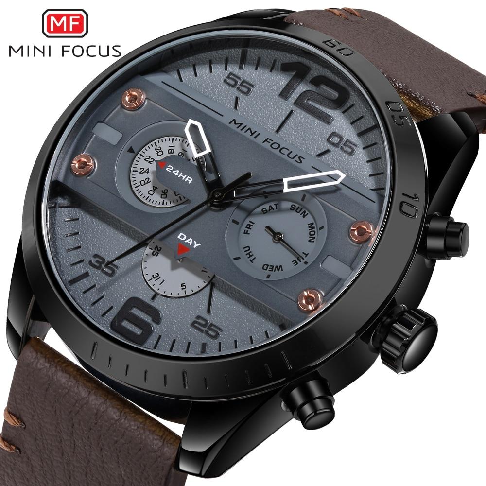 Multifunction Men Wristwatch Sport Quartz Watch Male Chronograph Army Military Waterproof Clock 0068G