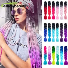 Jumbo Braids Synthetic Hair Extension Wholesale Price Expression Ombre New Color Yaki Straight Pre S