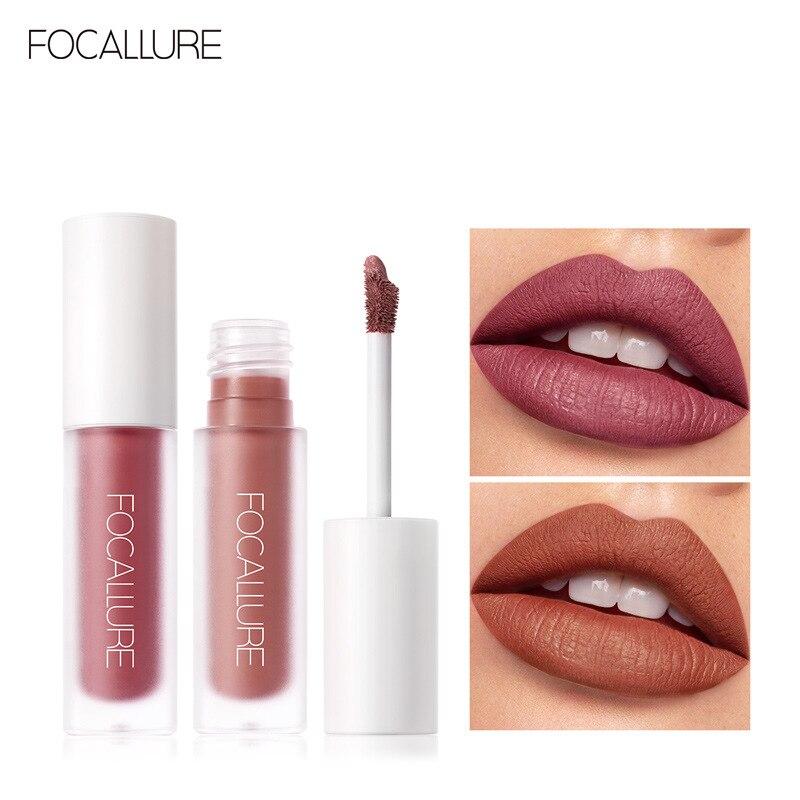 FOCALLURE Staymax lápiz de labios tinte mate brillo de labios iluminador de maquillaje cosmético maquillaje de terciopelo líquido labio Stick maquiagem TSLM2