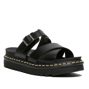 2021 Martens Ryker Genuine Leather Strap Slide Women's Sandals Platform Slippers Fashion summer shoes for women