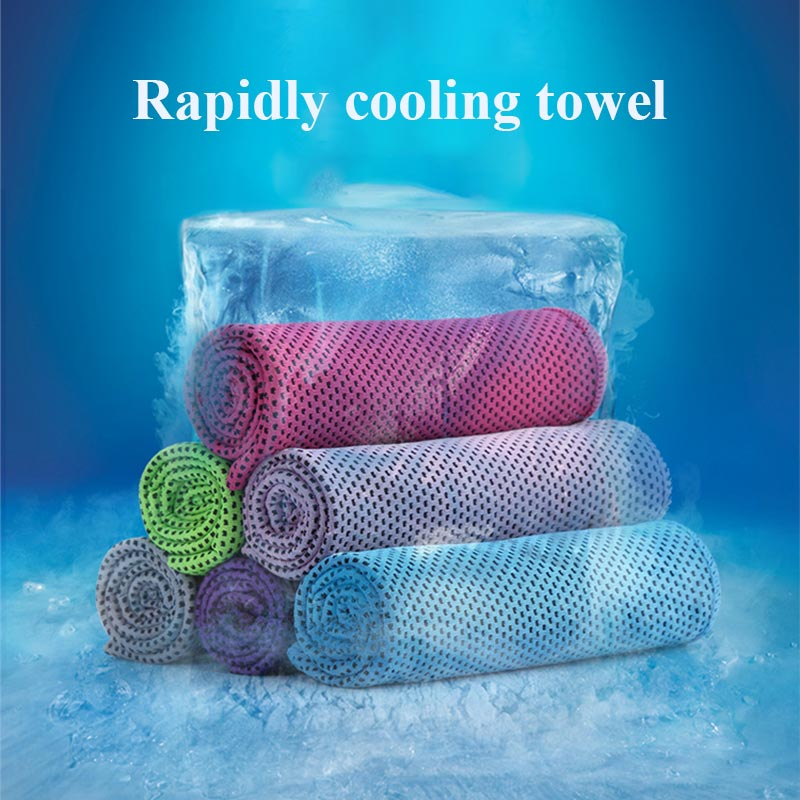 Ice Towel Fitness Running Quick-Drying Sweat-Absorbent Ice Towel Sports Cold Towel Cooling Cold Sports Towel multicolor sports face towel cooling ice utility enduring instant cozy ice cold for enduring running jogging gym