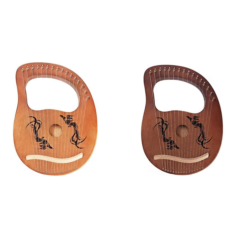 Lyre Harp 16 سلاسل ، فينيكس نمط القيثارة ، ومناسبة للمبتدئين والكبار والأطفال ، أداة سلسلة ،