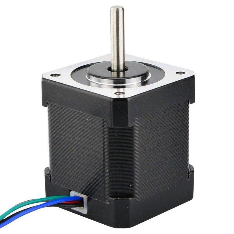 Mejor Nema 17 paso a paso Motor 48Mm Nema17 Motor 42Bygh 2A 4-plomo (17Hs19-2004S1) Motor 1M Cable para 3D impresora Cnc Xyz Motor