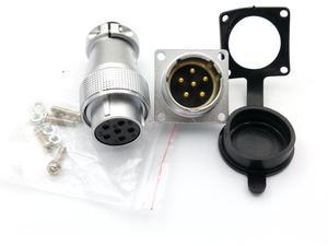 1SET PLS 24mm Openings Circular 6PIN 10PIN 12PIN 19PIN Aviation Plug Socket