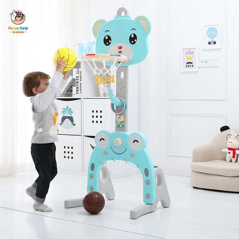 Juego de baloncesto para niños, altura ajustable, básquet para bebe, portería, aro, juguete de tiro, juego de deporte de interior para niños H061