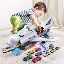 Jouet avion musique histoire Simulation piste inertie enfant jouet avion grande taille avion de passager enfants avion de ligne jouet voiture