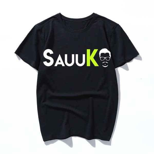 Camiseta con logo de sauuk, camiseta de verano con cuello redondo, camiseta...