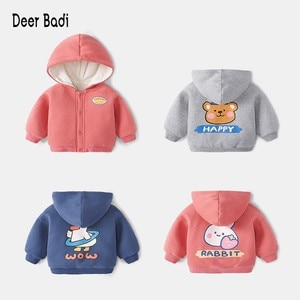Winter  Boys Girls Cotton Casual Sweatshirts Long Sleeve Cartoon With Hooded Pullover Tops 2-5Y  Warm Child Clothes For kids