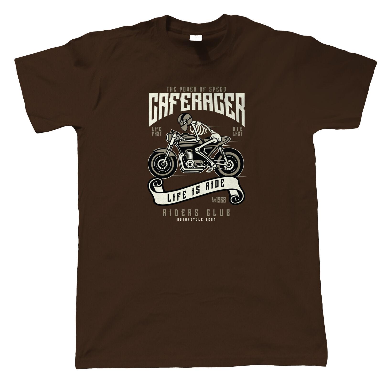 Camiseta de velocidad de Caferacer para hombre-regalo de motos él papá