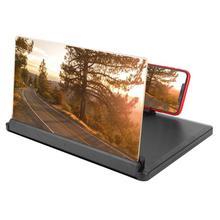 12 pouces 3D HD écran loupe téléphone Mobile écran élargi agrandisseur bureau debout support vidéo amplificateur support de bureau