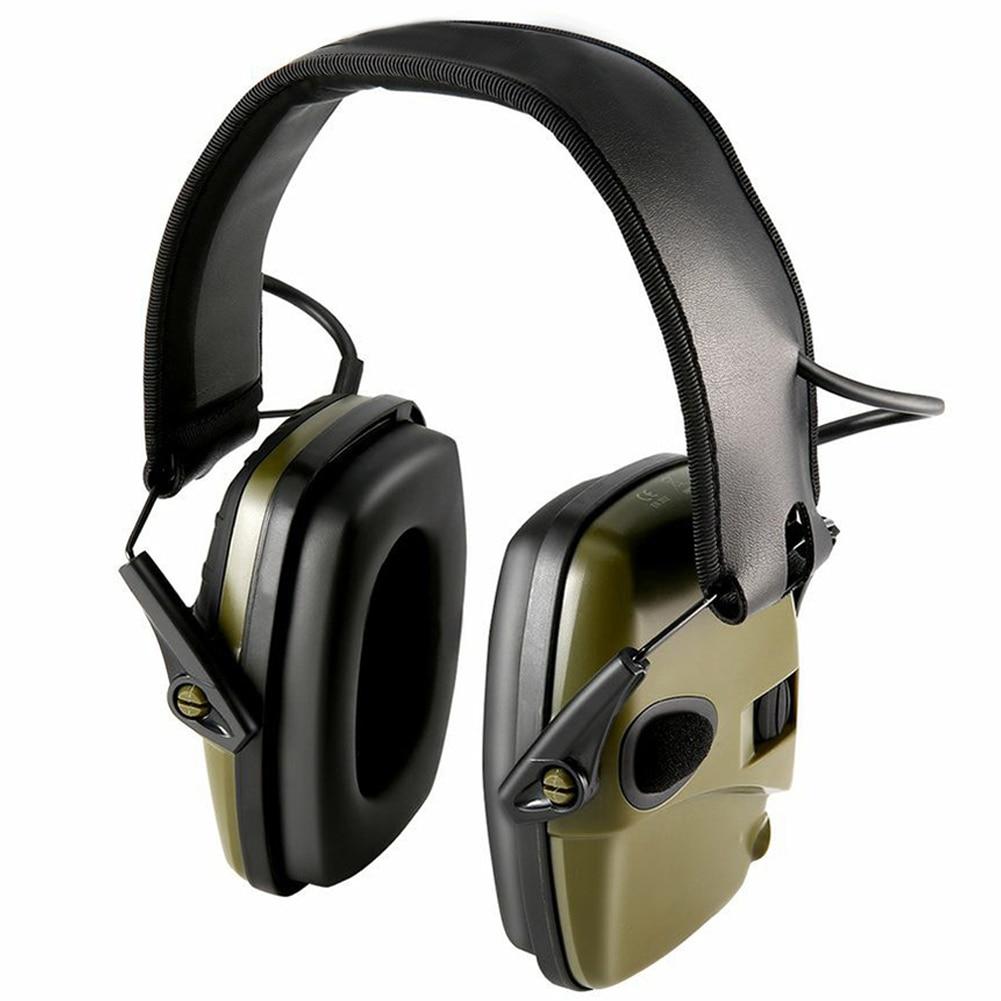 Hearing Protection Electronic Earmuffs Anti-Noise Headphones Noise Reduction Ear Defenders Folding Headset For Women Men