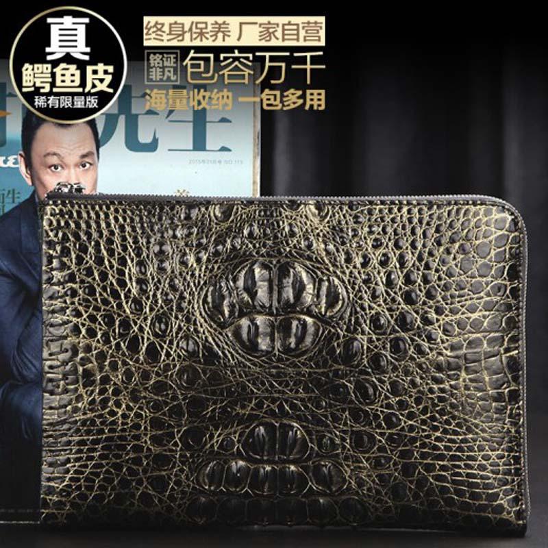 yinshang crocodile  envelope men clutch bag  male bag  large capacity  men envelope bag  business  Hand caught men bag