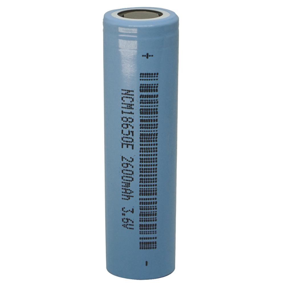 1 pcs 18650 2600mah 3.6V li-ion flat top rechargeable battery INR lithium delangneng batteries