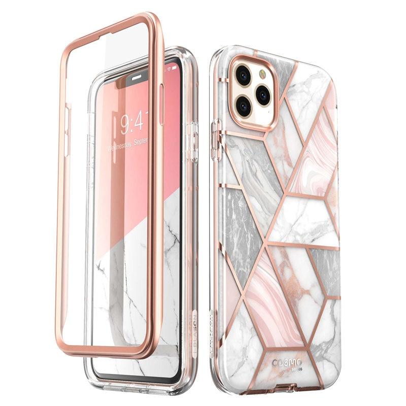 I-Blason для iPhone 11 Pro Max чехол 6,5 Дюймов (2019) Cosmo полностью блестящий Мраморный бампер чехол со встроенной защитной пленкой для экрана