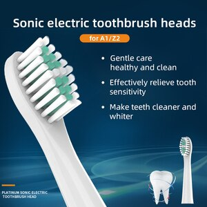 5PCS Electric Replacement Brush Heads Sonic Toothbrush Hygiene Care Heads for A1 Z2