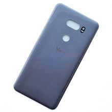 Pour LG V35 ThinQ verre boîtier arrière coque arrière couvercle de batterie avec adhésif V35 ThinQ pièce de réparation