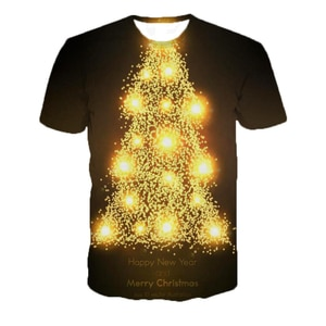 3d Funny Christmas Shirt Happy New Year Christmas Tree Christmas Tshirt Women/men Off White Plus Size Clothes Wholesale