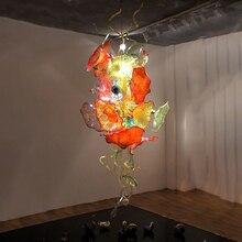 Luxury Chanddelier Light Fixture Handmade Blown Glass Flower Chandelier Decorative Murano Glass Chandeleirs